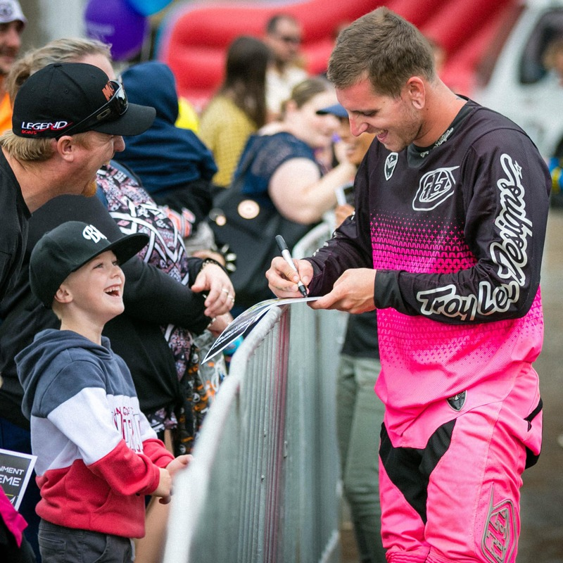 Meeting and greeting the fans after a show is always a highlight for riders