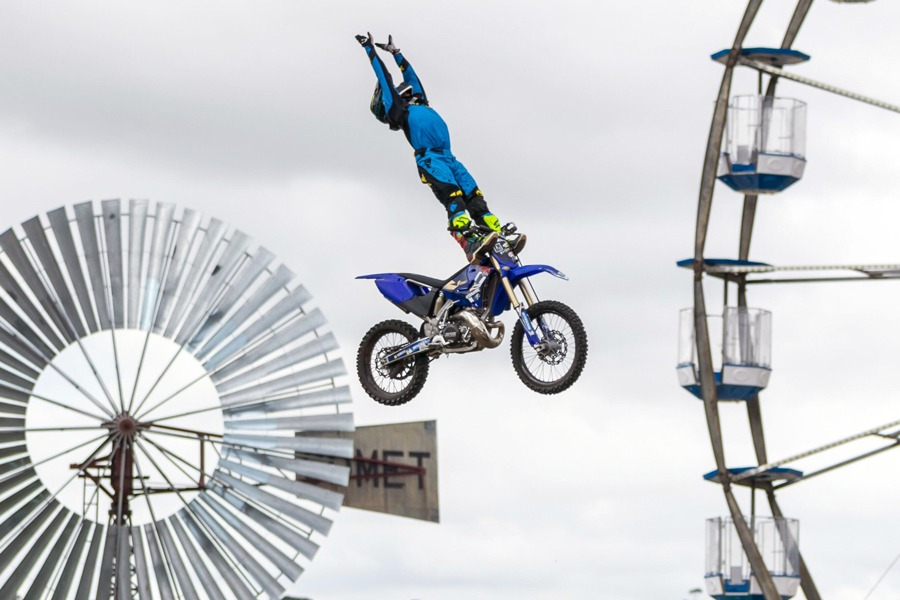 Riders have a vast catalogue of gravity defying FMX tricks